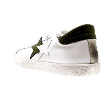 Scarpe Uomo Sneakers basse 2*star BIANCO/VERDONE LEATHER Multicolore