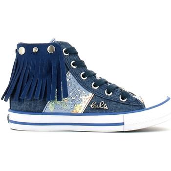 Scarpe Bambina Sneakers alte Lulu LV010060T Blu