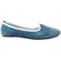 Scarpe Donna Mocassini Ballerette SABA015-003-050 Azzurre