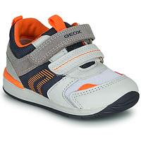 Scarpe Bambino Sneakers basse Geox B RISHON Bianco