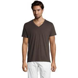 Abbigliamento Uomo T-shirt maniche corte Sols Master camiseta hombre cuello pico Gris