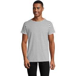 Abbigliamento Uomo T-shirt maniche corte Sols Camiseta de hombre a rayas Azul