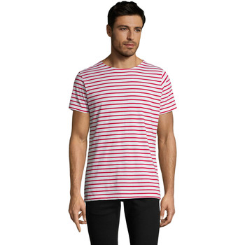 Abbigliamento Uomo T-shirt maniche corte Sols Camiseta de hombre a rayas Rojo