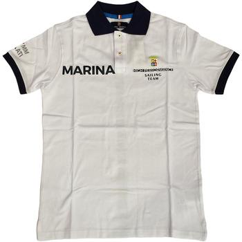 Abbigliamento Uomo Polo maniche corte Marina Militare ATRMPN-28088 Bianco