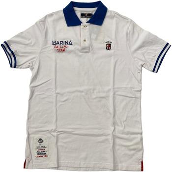 Abbigliamento Uomo Polo maniche corte Marina Militare ATRMPN-28089 Bianco