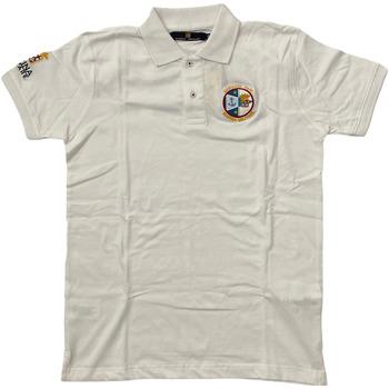 Abbigliamento Uomo Polo maniche corte Marina Militare ATRMPN-28095 Bianco