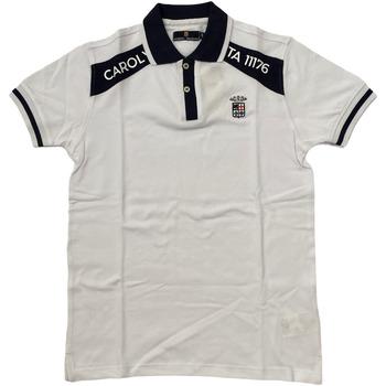 Abbigliamento Uomo Polo maniche corte Marina Militare ATRMPN-28106 Bianco