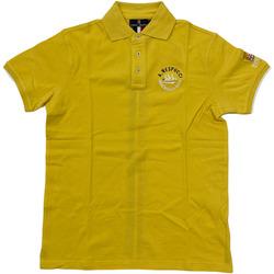 Abbigliamento Uomo Polo maniche corte Marina Militare ATRMPN-28117 Giallo