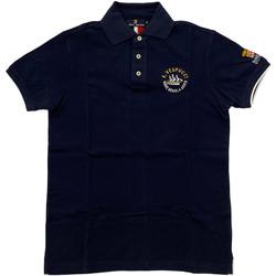 Abbigliamento Uomo Polo maniche corte Marina Militare ATRMPN-28126 Blu