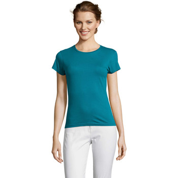 Abbigliamento Donna T-shirt maniche corte Sols Miss camiseta manga corta mujer Azul