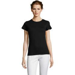 Abbigliamento Donna T-shirt maniche corte Sols Miss camiseta manga corta mujer Negro