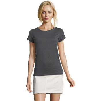 Abbigliamento Donna T-shirt maniche corte Sols Mixed Women camiseta mujer Gris