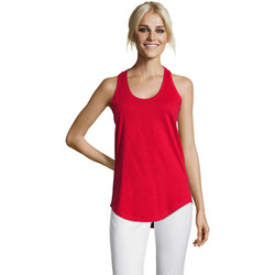 Abbigliamento Donna Top / T-shirt senza maniche Sols Moka camiseta mujer sin mangas Rojo
