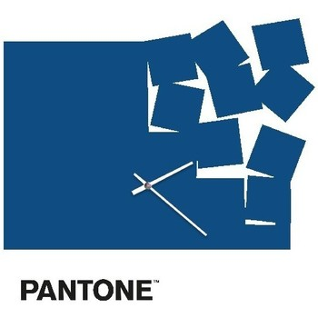 Casa Orologi Homemania Orologio Fly Away, Pantone, Blu, Bianco, Nero, 40x0,15x40 cm Blu, Bianco, Nero