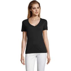 Abbigliamento Donna T-shirt maniche corte Sols MOTION camiseta de pico mujer Negro