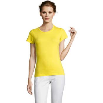 Abbigliamento Donna T-shirt maniche corte Sols Miss camiseta manga corta mujer Amarillo