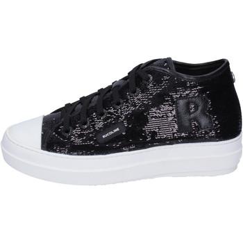 Scarpe Donna Sneakers alte Rucoline BH358 Nero