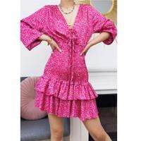 Abbigliamento Donna Abiti corti Fashion brands 22974-FUSHIA Fucsia