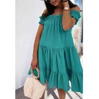 Abbigliamento Donna Abiti corti Fashion brands R5119-VERT-D-EAU Verde / Di acqua