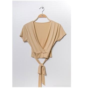 Abbigliamento Donna Top / Blusa Fashion brands FR029T-BEIGE Beige