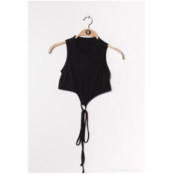 Abbigliamento Donna Top / Blusa Fashion brands FR070-BLACK Nero