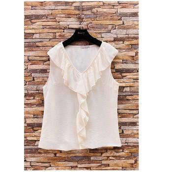 Abbigliamento Donna Top / Blusa Fashion brands ERMD-13797-CP-BLANC Bianco
