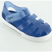 Scarpe Unisex bambino Scarpe acquatiche Igor S10171 sandalino gabbietta gomma Blu
