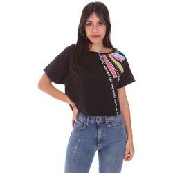 Abbigliamento Donna T-shirt maniche corte Ea7 Emporio Armani 3KTT40 TJ39Z Nero