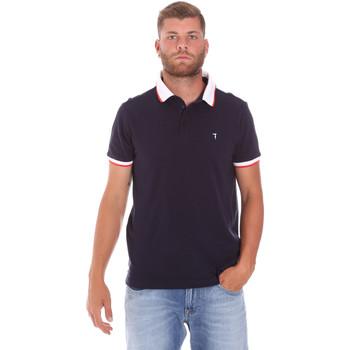Abbigliamento Uomo Polo maniche corte Trussardi 52T00491-1T003600 Blu