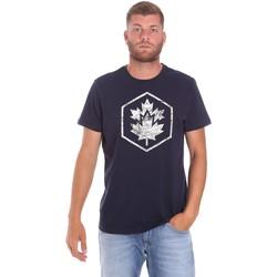 Abbigliamento Uomo T-shirt maniche corte Lumberjack CM60343 023EU Blu