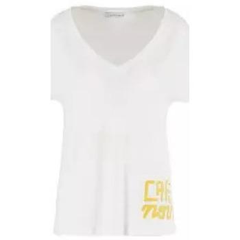 Abbigliamento Donna T-shirt maniche corte Café Noir CafèNoir T-Shirt Bianco-Nero Multicolore