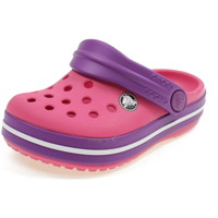 Scarpe Bambina Zoccoli Crocs CROCBAND CLOG KIDS FUXIA
