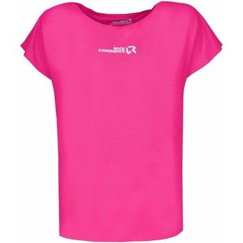 Abbigliamento Donna T-shirt maniche corte Rock Experience T-shirt Femme  Re.Spirit rose fluo