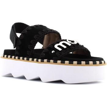 Scarpe Donna Sandali Mou donna sandalo con platform SW271001A NEW BIO SANDAL BELT LOGO Nero
