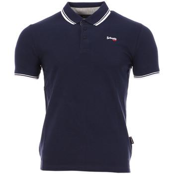 Abbigliamento Uomo Polo maniche corte Schott PSBRYAN21 Blu