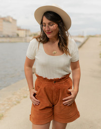 Abbigliamento Donna Top / Blusa Céleste ERABLE Ecru