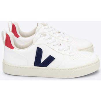 Scarpe Sneakers basse Veja V-10 Lace CWL White Cobalt Pekin bianca