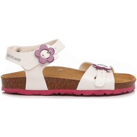 Scarpe Bambina Sandali Grunland Luce SB0567-70 bianco, fuxia