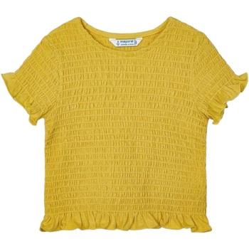 Abbigliamento Bambina T-shirt maniche corte Mayoral ATRMPN-28406 Giallo