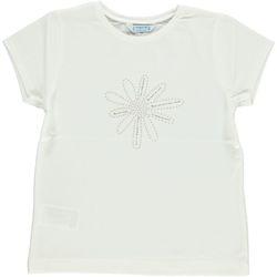 Abbigliamento Bambina T-shirt maniche corte Mayoral ATRMPN-28407 Bianco