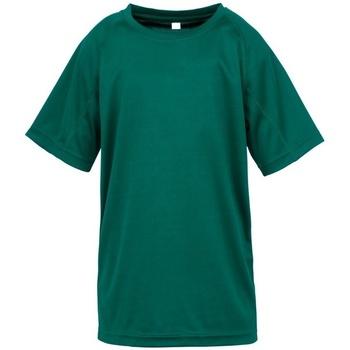 Abbigliamento Bambino T-shirt maniche corte Spiro S287J Verde bottiglia