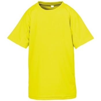 Abbigliamento Bambino T-shirt maniche corte Spiro S287J Giallo Fluo