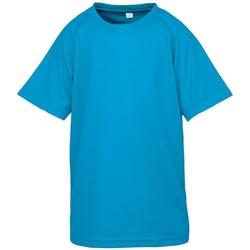 Abbigliamento Bambino T-shirt maniche corte Spiro S287J Blu Oceano