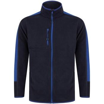Abbigliamento Felpe in pile Finden & Hales LV580 Blu scuro/Blu reale