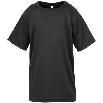 Abbigliamento Unisex bambino T-shirt maniche corte Spiro SR287B Nero