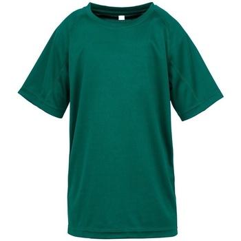 Abbigliamento Unisex bambino T-shirt maniche corte Spiro SR287B Verde bottiglia