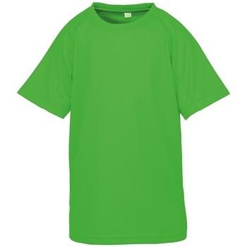 Abbigliamento Unisex bambino T-shirt maniche corte Spiro SR287B Verde