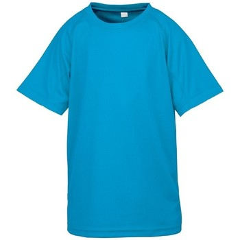 Abbigliamento Unisex bambino T-shirt maniche corte Spiro SR287B Azzurro