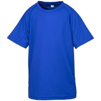 Abbigliamento Unisex bambino T-shirt maniche corte Spiro SR287B Blu reale