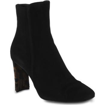Scarpe Donna Stivaletti Giuseppe Zanotti stivaletti da donna in velluto con tacco f nero